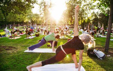 Yoga all'aperto a conegliano