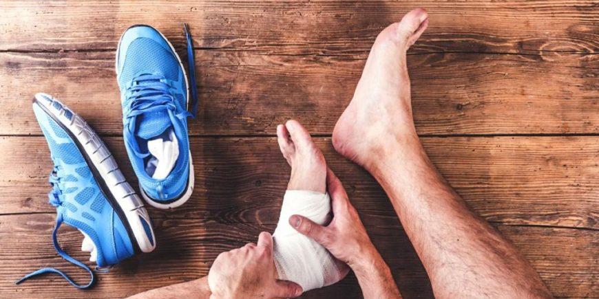 la distorsione alla caviglia
